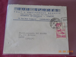 Lettre Du Maroc De 1947 A Destination De Paris - Maroc (1891-1956)