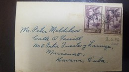 L) 1938 BRITISH HONDURAS, KING GEORGE, PALM, SCOTT 117, 3C, PURPLE, CIRCULATED COVER FROM BRITISH HONDURAS TO CARIBE - British Honduras (...-1970)