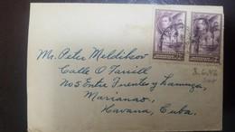 L) 1938 BRITISH HONDURAS, KING GEORGE, PALM, SCOTT 117, 3C, PURPLE, CIRCULATED COVER FROM BRITISH HONDURAS TO CARIBE - Honduras Britannique (...-1970)