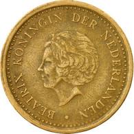 Monnaie, Netherlands Antilles, Beatrix, Gulden, 1991, TB+, Aureate Steel, KM:37 - Antilles Neérlandaises