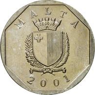 Monnaie, Malte, 50 Cents, 2001, TTB, Copper-nickel, KM:98 - Malte