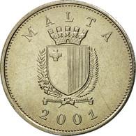 Monnaie, Malte, 25 Cents, 2001, Franklin Mint, SUP, Copper-nickel, KM:97 - Malte