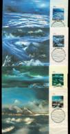 AAT 1989 Nolan Maxicards 4x FDI Lot20241 - Australian Antarctic Territory (AAT)