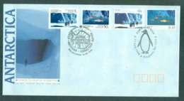 AAT 1990 Scientific Co-operation In Antarctica + USSR Stamps, Melbourne/Kingston TAS FDC Lot51037 - Australian Antarctic Territory (AAT)