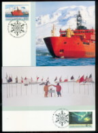 AAT 1991 Antarctic Treaty 2xMaxicards - Australian Antarctic Territory (AAT)