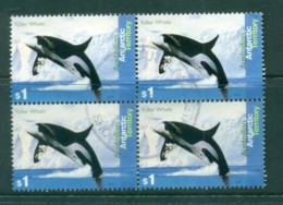 AAT 1995 Killer Whales $1 Blk4 FU - Australian Antarctic Territory (AAT)