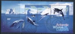 AAT 1995 Whales & Dolphins MS FU - Australian Antarctic Territory (AAT)