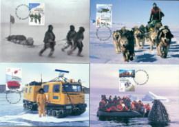 AAT 2001 Australians In The Antarctic 4xMaxicards - Australian Antarctic Territory (AAT)
