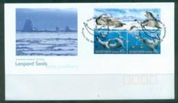 AAT 2001 WWF Leopard Seals Blk 4 FDC - Australian Antarctic Territory (AAT)