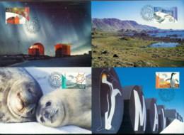 AAT 2002 Research 4xMaxicards - Australian Antarctic Territory (AAT)