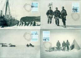 AAT 2009 South Magnetic Pole 4xMaxicards - Australian Antarctic Territory (AAT)