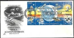 USA  1981  18c  Space Accomplishments Block Of 8 On FDC Artcraft Cachet - FDC & Commémoratifs