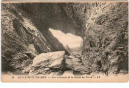 61thks 336 CPA - BELLE ILE EN MER - VUE INTERIEURE DE LA GROTTE DU  TALUD - Belle Ile En Mer