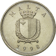 Monnaie, Malte, 10 Cents, 1998, TTB+, Copper-nickel, KM:96 - Malte