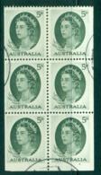 Australia 1963 QEII 5d Green Booklet Pane FU Lot34676 - 1952-65 Elizabeth II : Ed. Pré-décimales