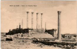 61thr 335 CPA - PONT DU FAHS - RUINES DE TUBURBO MAJUS - Tunisia