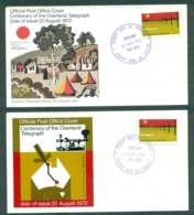 Australia 1972 Overland Telegraph, Geelong (tones)2x FDC Lot50718 - Cartas