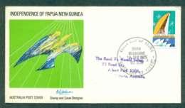 Australia 1975 PNG Independence 18c,South Melbourne FDC Lot50756 - 1966-79 Elizabeth II