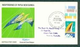 Australia 1975 PNG Independence 18c,South Melbourne FDC Lot50757 - 1966-79 Elizabeth II