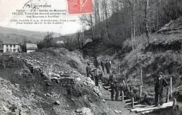 CPA - 15 - VELZIC - Vallée De Mandailles - Construction D'une Tranchée Devant Amener Les Eaux Des Sources à Aurillac - France