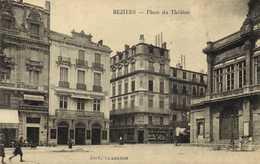 BEZIERS  Place Du Theatre Commerces RV - Beziers