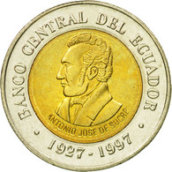Monnaie, Équateur, 70th Anniversary - Central Bank1997, 100 Sucres, 1997, FDC - Equateur