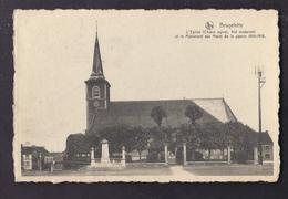 CPA BELGIQUE - BRUGELETTE - L'Eglise Et Le Monument Aux Morts De La Guerre 14-18 TB Vue CENTRE VILLAGE - Brugelette