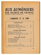 SCOUTISME - Aux Aumôniers Des GUIDES DE FRANCE - L'Aumônier Et Le Camp Mai 1955 + Epreuves Religieuses... - Scoutisme