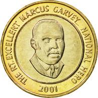 Monnaie, Jamaica, Elizabeth II, 20 Dollars, 2001, FDC, Bi-Metallic, KM:182 - Jamaique
