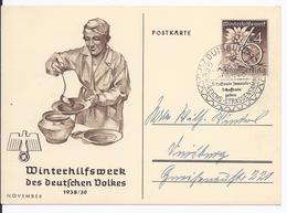 Dt- Reich (000915) Propaganda Ganzsache P274/02 Novem. Mit SST Duisburg, Schaffende Sammeln,schaffende Geben Gestempelt - Ganzsachen