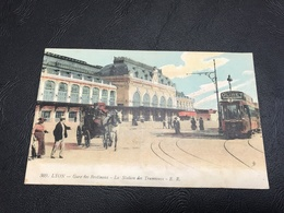 309 - LYON Gare Des Brotteaux - La Station Des Tramways - 1919 - Lyon