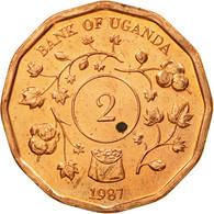 Monnaie, Uganda, 2 Shillings, 1987, TTB, Copper Plated Steel, KM:28 - Uganda