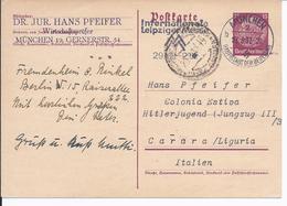 DT- Reich (000934) Propaganda Hitlerjugend Ganz. P300 Gelaufen Nach Colonia Estiva Hitlerjugend (Jungzug III/ 3) Italien - Covers & Documents