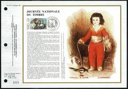 """Y/T N° 2124 Sur  1 FDC Gd Format - Oblit.1 Ier J. """"PARIS 7/3/1981"""" - Journée Nationale Du Timbre: La Lettre D'Amour GOYA - 1980-1989"""