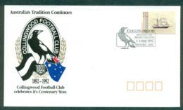 Australia 1992 Collingwood Magpies Centenary FDC Lot52420 - 1990-99 Elizabeth II