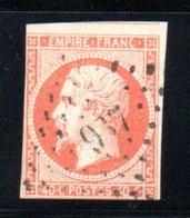 France / N 16 / 40 Centimes Orange / Oblitéré / Côte 22 € - 1852 Louis-Napoleon
