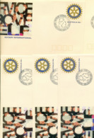 Australia 1993 Rotary Convention Pictorial Postmark FDI 5xPSE Lot52294 - Brieven En Documenten