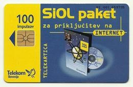 Slovenia - Tessera Telefonica Da 100 Units T567 - Advertising