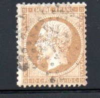 France / N 21 / 10 Centimes Bistre / Oblitéré - 1862 Napoleon III