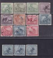 Belgisch Congo  COB °  118-131 - 1923-44: Oblitérés