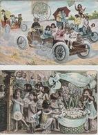 18/9/594  -    2  CPA. BÉBÉS  MULTIIPLES - Dibujos De Niños