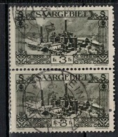 SARRE         N°  YVERT   119 X 2     OBLITERE       ( O   2/33 ) - 1920-35 Saargebiet – Abstimmungsgebiet