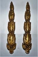 RENAISSANCE RARE LOT 2  SUPERBE FRONTON ORNEMENT BRONZE TOUT SCULPTE - Bronzes