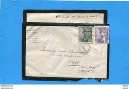MARCOPHILIE- Guerre 39-45-lettre ESPAGNE>France  Cad Alicante 1943-censure-enveloppe  Condoléances> Accélérer Transit - Marcas De Censura Nacional