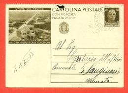 INTERI POSTALI I-CARTOLINE POSTALI-C89/6 - LITTORIA-CASE COLONICHE- DA URBISAGLIA PER  MACERATA - 1900-44 Vittorio Emanuele III
