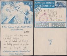 Afrique Du Sud 1943 - Lettre Air Mail Publicitaire Noêl - Guerre 40-45- Thématique Chevaux, Pyramide (3G23468) DC0039 - Stamps