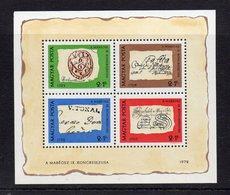 UNGHERIA - 1972 - Fioglietto Giornata Del Francobollo - 4 Valori - Nuovo -  (FDC12146) - Feuillets Souvenir