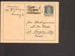 Alli.Bes. 12 Pfg Ganzsache Stephan P 965 Gestempelt Aus Stuttgart Von 1947 M.Serienstempel Fasse Dich Kurz Am Fernsprech - Gemeinschaftsausgaben