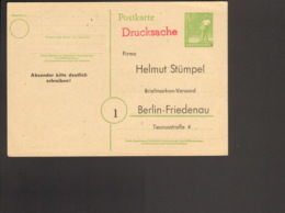 Alli.Bes.10 Pfg Ganzsache Arbeiter P 961 Als Drucksachen-Antwortkarte Aus Berlin Ungebraucht - Gemeinschaftsausgaben