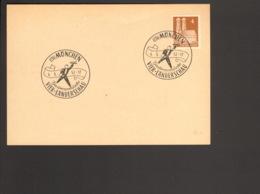 Bizone 4 Pfg. Bauten Auf Blanko Postkarte Mit Sonderstempel Gastronomische Vier-Länderschau München 1952 - Zone Anglo-Américaine